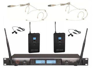 GTD Audio G 622E UHF 200 Channel Wireless Microphone System with Headset & Lavalier (Lapel) Mic Musical Instruments