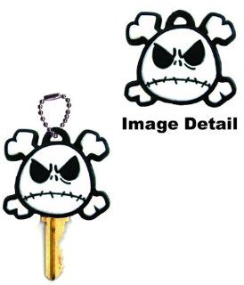 Nightmare Before Christmas Jack Skellington Head with Crossbones Disney Car Truck SUV Boat Home Office Key Chain Key Holder with Chain: Automotive