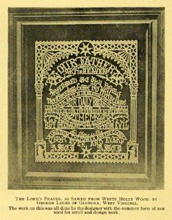 1910 Print Lord's Prayer Wood Carving George Lucas W.V.   Original Halftone Print