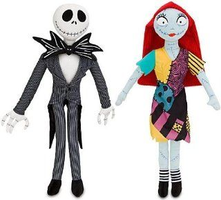 "The Nightmare Before Christmas Disney JACK SKELLINGTON & SALLY Set of 20"" Plush Figure Dolls: Toys & Games"