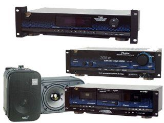 Pyle Home Complete Audio System Package    PT649D Dual Cassette Deck + PT 652T Digital AM/FM Tuner + PT 600A 300 Watt Stereo Receiver/Amplifier + PDMN48 5 Inch 2 Way Bass Reflex Mini Monitor System   Pair of Bookshelf/Wall Speakers Electronics