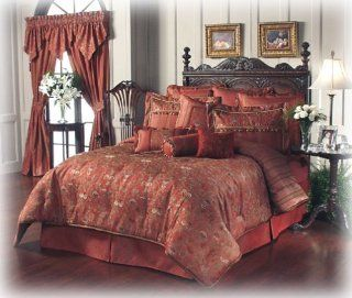 Waterford Ballyshannon Queen Bed Skirt, Ruby   Waterford Comforter