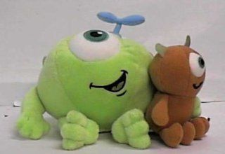 "Disney Monsters Inc. 7"" Mike Wazowski with Little Mikey Kid Plush By the Disney Store: Toys & Games"