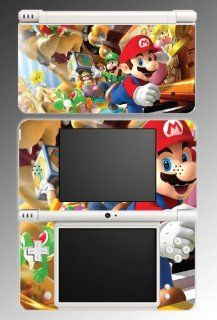 New Super Mario Bros 2 Galaxy Luigi Yoshi Princess Bowser Video Game Vinyl Decal Cover Skin Protector for Nintendo DSi XL Video Games