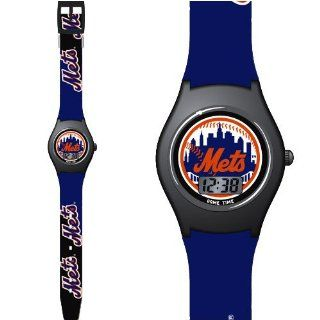 """NEW YORK METS Team Logo & Colors Digital (Time & Date) """"Fan Series"""" KIDS WATCH with 9.5"""" Adjustable Team Logo Band  Sports Fan Watches  Sports & Outdoors"""