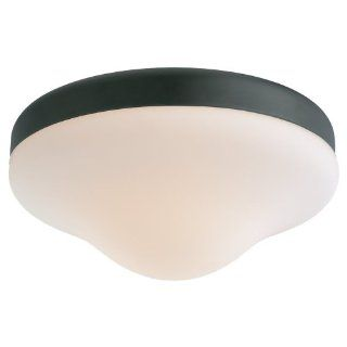 Monte Carlo MC07PBK Opal Teardrop Wet Location Light Kit, Matte Black   Powder Coated   Ceiling Fans