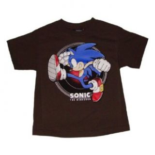 Sonic the Hedgehog Sonic Sprint Boys T shirt (S (4), Brown) Clothing