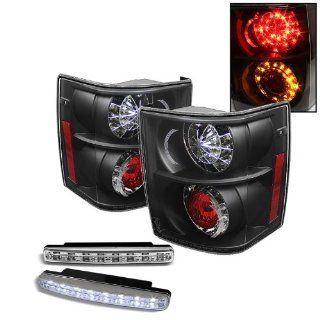 Carpart4u Land Rover Range Rover HSE LED Black Tail Lights & LED Day Time Running Light Package Automotive