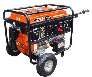 DuroStar DS4000WGE 4, 000 Watt Gas Powered Portable Generator With Electric Start And 210 AMP Electric Welder Combo  Portable Welding Machine  Patio, Lawn & Garden