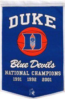 Duke Blue Devils Commemorative Banner  Sports Fan Wall Banners  Sports & Outdoors