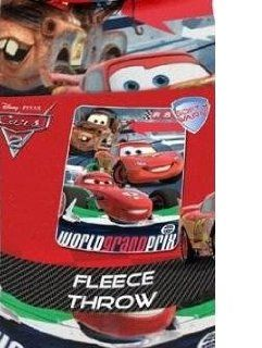 "Disney Pixar Cars 2 World Grand Prix Blanket/Throw 45"" x 60""   Childrens Blankets"