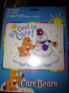"Care Bears ""It's Cool to Care"" Counted Cross Stitch Kit 9""x 12"""