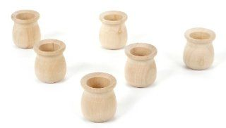 Darice 9119 40 Big Value Unfinished Wood Large Candle Cup, Natural, 1 5/8 Inch