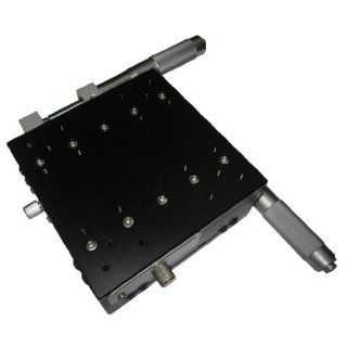 MPositioning T125XY 50R XY Linear Translation Stage, Cross Roller Bearing Stage with 50 mm of Travel, Large Area Platform Size, 125 mm x 125 mm, Provides High Load Capacity of 15 kg, Right Handed Configuration, Easily set up in XYZ System: Precision Measur