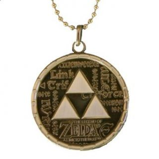 NINTENDO ZELDA TRIFORCE LOGO PEWTER MEDALLION NECKLACE Clothing
