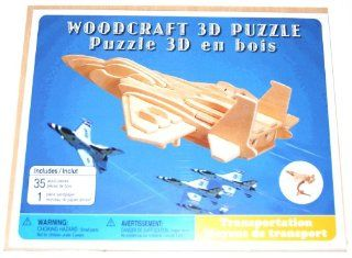 Woodcraft Wooden 3D Model Kit, F 15 Fighter Plane (1 Each): Toys & Games