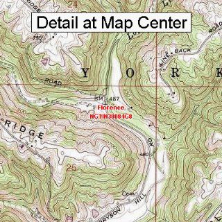 USGS Topographic Quadrangle Map   Florence, Indiana (Folded/Waterproof)  Outdoor Recreation Topographic Maps  Sports & Outdoors