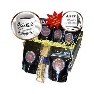 cgb_157397_1 EvaDane   Funny Quotes   Aged 60 years to perfection. Happy 60th Birthday.   Coffee Gift Baskets   Coffee Gift Basket : Gourmet Coffee Gifts : Grocery & Gourmet Food