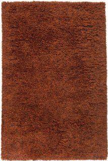 5' x 8' Simplistic Shades Burnt Orange Hand Woven Wool Area Throw Rug   Handmade Rugs