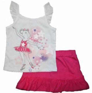 Angelina Ballerina Toddler Girls Skirt & Shirt Clothing Set (18 Months, White/Pink) Infant And Toddler Skirts Clothing Sets Clothing