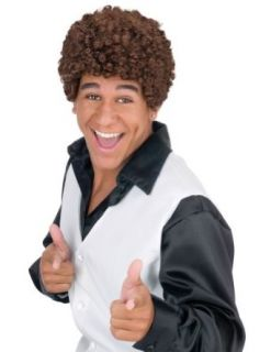Jheri Curl Dark Brown Wig Halloween Costume   1 size: Clothing