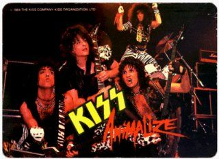 Kiss   Animalize Group Shot   RETRO AUTHENTIC 80s Sticker / Decal: Automotive