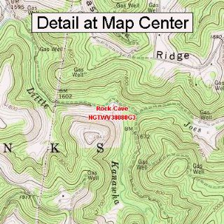 USGS Topographic Quadrangle Map   Rock Cave, West Virginia (Folded/Waterproof)  Outdoor Recreation Topographic Maps  Sports & Outdoors