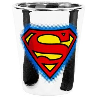 Superman   Logo Metallic Shot Glass: Kitchen & Dining