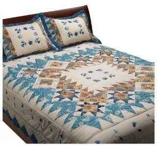 100% Cotton Garden Breeze Full/Queen Quilt Set with Shams