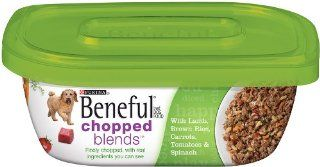 Beneful Wet 8 Pack Chopped Blends with Lamb, Brown Rice, Carrots, Tomatoes and Spinach in Plastic Container, 10 Ounce  Dry Pet Food