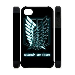 Anime Comic Cartoon Attack On Titan Iphone 4S/4 Case Cover Dual Protective Polymer Cases Best protective: Books
