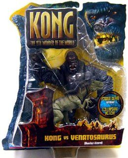 King Kong The 8th Wonder of the World Action Figure Kong Vs. Venatosaurus: Toys & Games