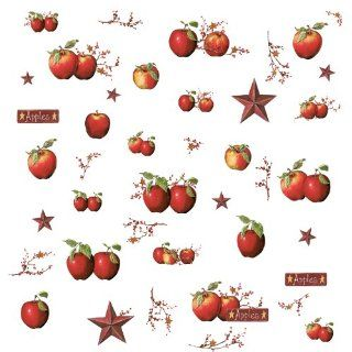 ROOMMATES RMK1570SCS Country Apples Peel & Stick Wall Decals   Decorative Wall Appliques