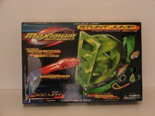 Maximum Speed Double Loop Stunt Jump RACE SET Cars & Curve Light Up & more: Toys & Games