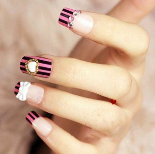 """NUMBER C4"" FASHION JAPANESE 3D NAIL ART CUTE HEART 24 nails Sold By FATTYCAT: Everything Else"