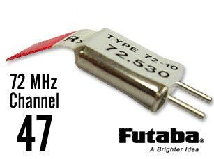 Futaba Channel 47 72MHz FM Dual Conversion Radio Receiver Crystal RX Xtals Toys & Games