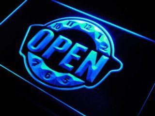 ADV PRO j787 b OPEN Happy Hour Clock Bar Beer Neon Light Sign