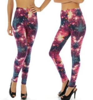 Fashion Chic pant Print leggings galaxy purple L/XL PCS766 at  Women�s Clothing store