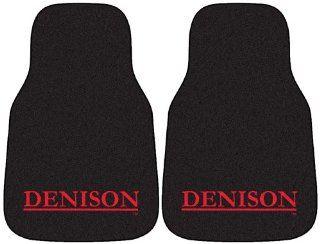 FANMATS NCAA Denison University Big Red Nylon Face Carpet Car Mat Automotive
