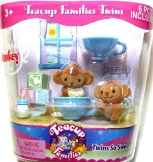 "Teacup Families Twins ""Machichi Monkey Twins"" Toys & Games"