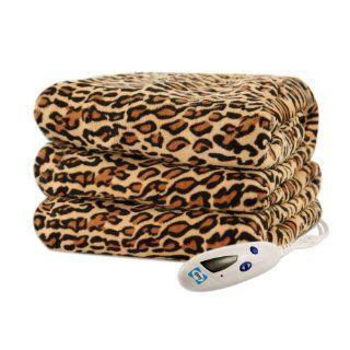 Biddeford 4441 907484 791 Heated Throw, 50 by 62 Inch, Cheetah Print   Throw Blankets