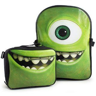 Monsters University Backpack and Lunch Bag Set [Mike Wazowski]: Toys & Games