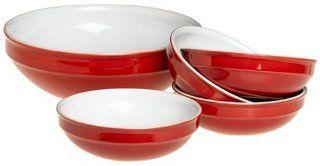 Emile Henry 5 Piece Pasta Bowl Set, Cerise Red Kitchen & Dining