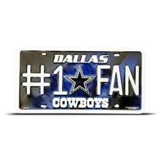 Dallas Cowboys #1 Fan Metal Tag License Plate Football 801  Sports Related Collectibles  Sports & Outdoors
