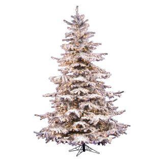 Vickerman Flocked Sierra Pre lit Christmas Tree   Christmas Trees