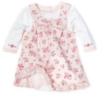 Little Me Baby Girls Newborn Vintage Floral Cord Jumper Set, Pink Floral, 3 Months Infant And Toddler Dresses Clothing