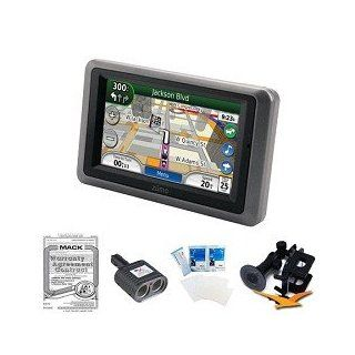 Garmin Zumo 665LM ZUMO665LM Motorcycle GPS MFG Part 010 00727 08 Bundle with Universal GPS Car Mount Holder, Three Year Additional Warranty Certificate, Screen Protectors for LCD Screens and International 2 Socket Cigarette Lighter GPS & Navigation
