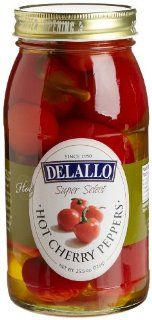 DeLallo Red Hot Cherry Peppers, 25.5 Ounce Jars (Pack of 6)  Chile Peppers Produce  Grocery & Gourmet Food