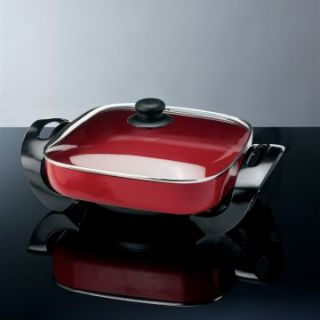Deni 8266 PFOA Free Electric Skillet   Red   Electric Skillets
