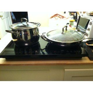 True Induction Cooktop  Double Burner  Energy Efficient Electric Countertop Burners Kitchen & Dining